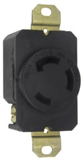 L1030R TURNLOK RECEPTACLE 3WIRE 30A125/250V