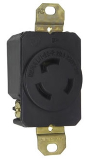 L1120R TURNLOK RECEPTACLE 3WIRE 20A 3PHASE 250V