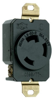 L630RBL 30A 250V BLUE TURNLOK RECEPTACLE
