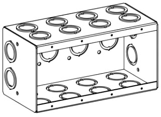 ORBT MB-4 4-G MASONRY BOX 3-1/2IN DEEP
