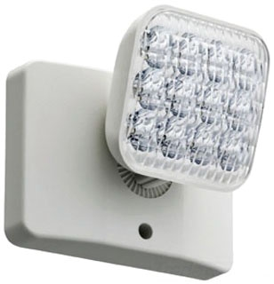 ELA LED M12 WHITE THERMOPLASTIC INDOOR REMOTE WITH SINGLE ADJUSTABLE LED LAMP HEAD, 9.6V, 1.0W