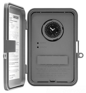 GM40QW 7-DAY, 40A SPDT/DPDT, NEMA 3R OUTDOOR PLASTIC ENCLOSURE, BATTERY BACKUP