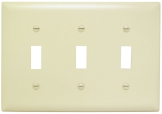 602514 3-GANG IVORY SWITCH PLATE SP3-I