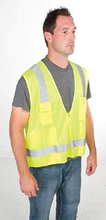 gre 01761-03L GRE VEST HI-VIS SURVEYOR CLASS-2 L/XL