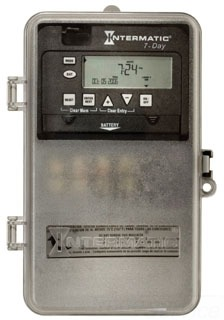 INT ET8215CPD82 7Day Electronic Timer 2 x SPST or DPST 30amp 120-277V N3R encl w/clear cover for viewing tracks Sunrise & Sunset