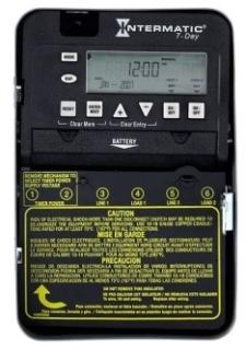 ET1725C 7-DAY 30 AMP 2XSPST OR DPST ELECTRONIC TIMESWITCH - CLOCK VOLTAGE 120-277V NEMA 1