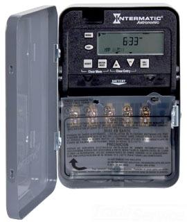 ET8115C 7-DAY 20/30 AMP SPDT ELECTRONIC ASTRO TIMESWITCH - CLOCK VOLTAGE 120-277V NEMA 1