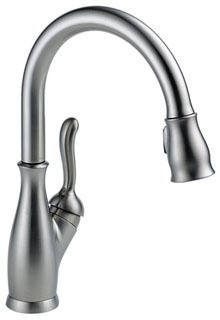 DE-9178-AR-DST DELTA LELAND ARTIC SS DIAMOND SEAL SGL LVR HDL PULL-DOWN SPRAY KITCHEN FAUCET