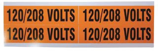 IDEAL 44-296 120/208V VOLTAGE MARKER 1-1/8 X 4-1/2 (4 MARKERS PER CARD - 5 CARDS IN BAG, CARDS PURCHASED INDIVIDUALLY)