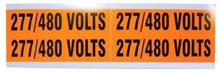 IDEAL 44-299 277/480V VOLTAGE MARKER 1-1/8 X 4-1/2 (4 PER CARD)