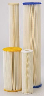 """255494-43 ECP5-20BB 4 1/2""""D 20""""L PLEATED CELLULOSE POLYESTER SEDIMENT CARTRIDGE AMER PLBR"""