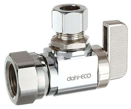 """611-52-31 (BEST) DAHL 3/8"""" FIP X OD COMP CH LEAD FREE ANGLE STOP VALVE DOMESTIC"""