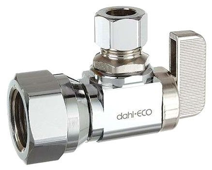 """611-53-31 (BEST) DAHL 1/2"""" FIP X 3/8"""" OD COMP CH LEAD FREE ANGLE STOP VALVE DOMESTIC"""