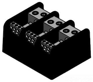 ILSCO PDB-212-4/0-3 POWER DISTRIBUTION BLOCK PRIMARY 2-4/0 SECONDARY 12-#4-14