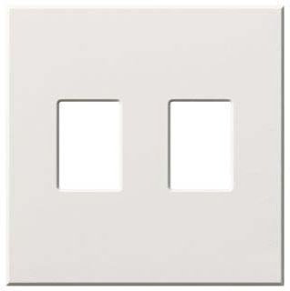 VWP-2-WH 2-GANG WALL PLATE FOR 2 DIMMERS OR SWITCHES WHITE (VAREO OR NOVA-T SERIES ONLY)