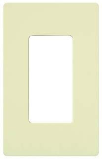 CW-1-AL  ALMOND 1 GANG DECORA PLATE FOR LUTRON SLIDE DIMMERS