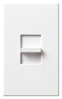 N-600-WH  WHITE 600W SINGLE POLE SLIDE DIMMER WITH BACK FINS