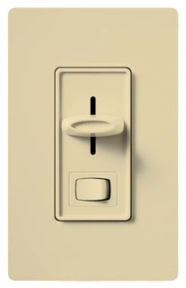 SLV-600P-IV  IVORY SINGLE POLE 450W MAGNETIC LOW VOLTAGE PRESET DECORA SLIDE DIMMER W/ ON-OFF SWITCH
