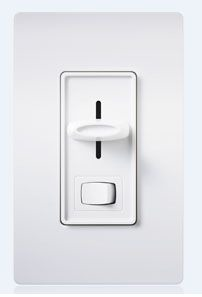 S-603P-WH (SKYLARK) WHITE 600W 3-WAY PRESET SLIDE DIMMER