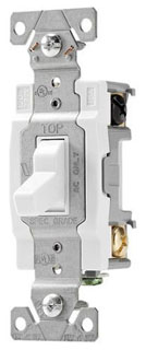 CWD CS220W 2P 20A COMM SWITCH SWITCH TOGGLE DP 20A 120/277V SWIRE WH