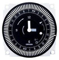 FM1QTUZH-24U 24-HOUR ELECTROMECHANICAL TIMER MODULE W/BATTERY BACKUP, 21A, SPDT