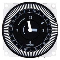 FM1QTUZ-120U 24-HOUR ELECTROMECHANICAL TIMER MODULE WITH BATTERY BACKUP, 21A, SPDT