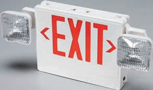 D-B *** VCRWLRC 6V COMBO LED EXIT SIGN