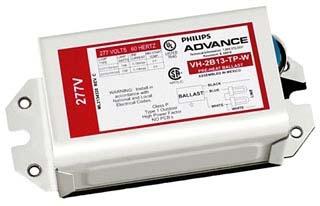 (ADVANCE) VH2Q26TP-BLSM 2-LIGHT 26W 277V FLUORESCENT BALLAST WITH BOTTOM LEADS
