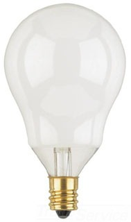 WEST 03943 60A15/SW/CB/FAN/CD2 60W CANDELABRA BASE A15 LAMP