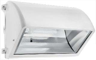 RAB-WP2CF32W/PC WALLPACK 32W CFL QT HPF CUTOFF LAMP + 120V PC WHITE