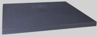 4903060 36X36 2in GREY PLASTIC A/C CONDENSER PAD