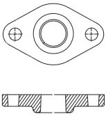 DA13867 51.9603 1 1/4in CAST IRON FLANGE