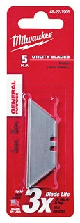MIL 48-22-1905 5 PC GENERAL PURPOSE REPLACEMENT UTILITY BLADES