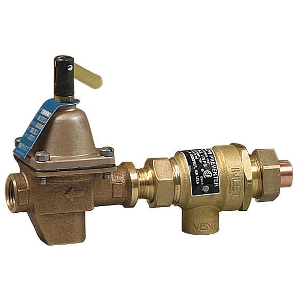 "B911S Watts 1/2"" Sweat Brass Union High Capacity Combination Fill Valve And 1/2"" IPS Backflow Preventer With Atmosperic Vent 100 PSI"
