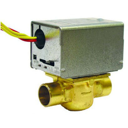 "V8043E1012/U Honeywell 3/4"" Sweat Zone Valve Normally Closed With End Switch & Leads"