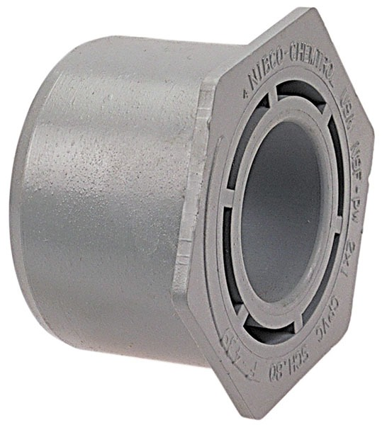 "2"" X 3/4"" CPVC Concentric Hex Flush Bushing"