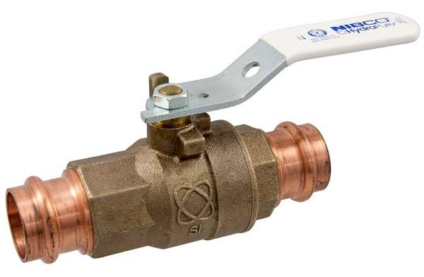 "1"" PC-585-80-LF Press Ball Valve, Lead-Free Silicon Bronze"
