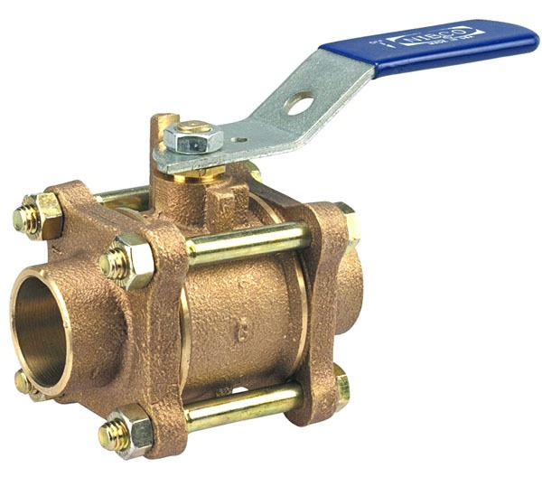 "1/2"" S-595-Y Soldered Ball Valve, Bronze"