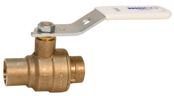 "1"" S-685-80-LF Soldered Ball Valve, Lead-Free Silicon Bronze"