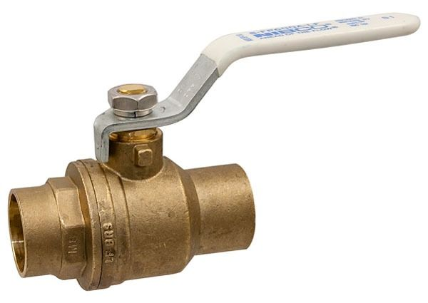 "3/4"" S-FP-600A-LF Soldered Ball Valve, Brass"