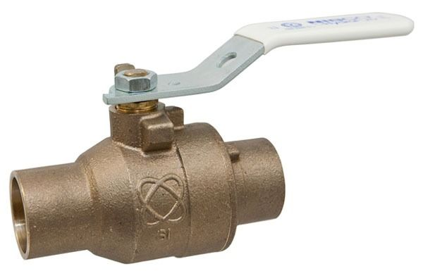 "1"" S-585-80-LF Soldered Ball Valve, Silicon Bronze"
