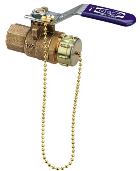 "3/4"" T-585-70-HC Threaded/Hose Ball Valve, Bronze"
