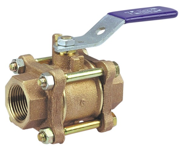 "1/2"" T-595-Y Threaded Ball Valve, Bronze"