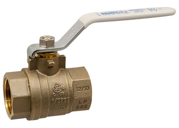 "1"" T-FP-600A-LF Threaded Ball Valve, Brass"