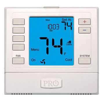 """T755 Pro1 7 Day Programmable 3H/2C 6"""" Digital Thermostat"""