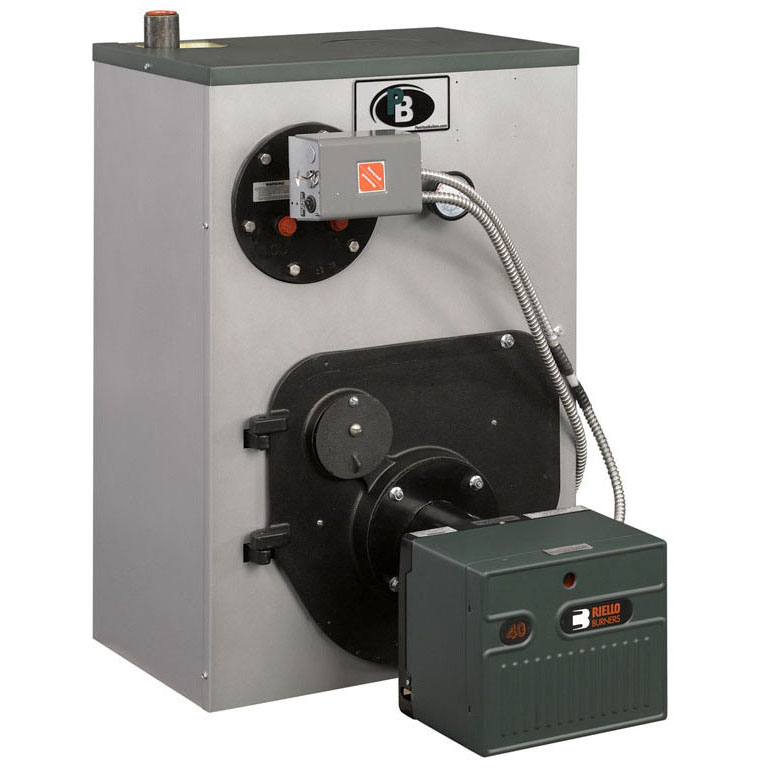 1403072 Peerless WBV-03-WPCTL 85.0% AFUE Oil Boiler With Circulator, Hydrostat, And Tankless Coil Less Burner 147K BTU