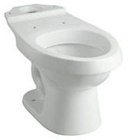 Rockton, Dual Force Elongated Toilet Bowl, Vitreous China 1.6 Solid Waste, 0.8 Liquid Waste GPF White Elongated Bowl