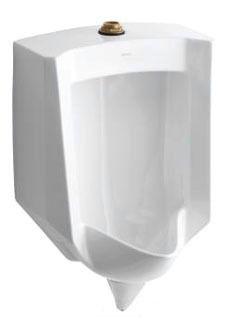 Stanwell Blowout Flush Action Urinal, Vitreous China 1 GPF White