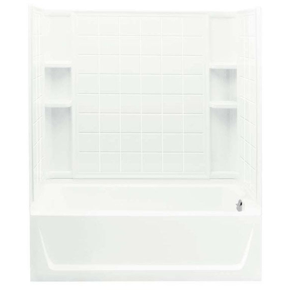 4-Piece Right Hand Tub and Shower Module - Ensemble, High-Gloss White