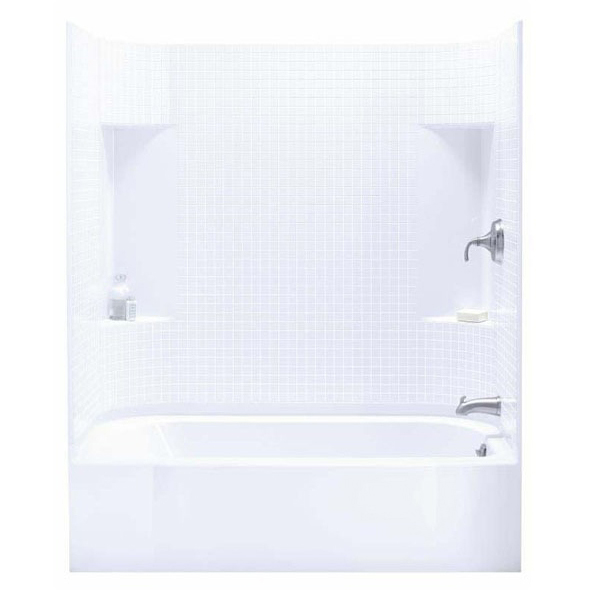 4-Piece Right Hand Tub and Shower Module - Accord, High-Gloss White